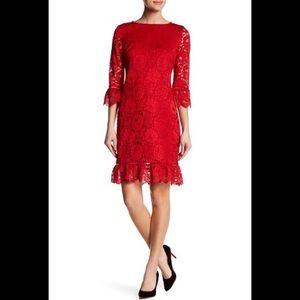 Donna Ricco Bell Sleeve Lace Dress Sz 14